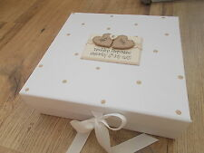 Personalised Vintage Wedding Engagement Keepsake Box Memory Box  QUICK DISPATCH!