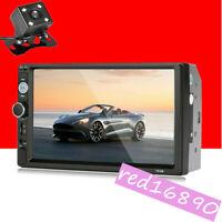 "7"" HD 2DIN Car Stereo Radio MP5 Player Bluetooth USB Touch Screen W/ Rear Camera"