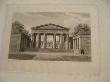 vintage early Print: building ?? something in pencil at bottom