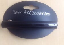 A Matt And Gloss Black Barrette Hair Clip