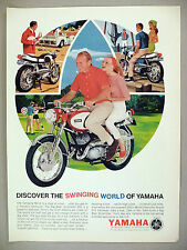 Yamaha Motorcycle PRINT AD - 1966 ~ cycle, scooter