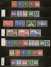 KUWAIT 1952-57 GREAT BRITAIN OVPTS COMPLETE SG93/130 MNH