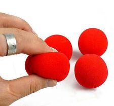 New 10PCS Close-Up Magic Street Classical Comedy Trick Soft Red Sponge Ball CNUS