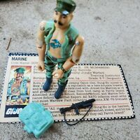 Vintage GI Figure 1983 Gung Ho complete with card