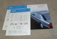 Mercedes 230 CE & 300 CE W124 Coupe Brochure 1987-1988 230CE & 300 CE UK Market
