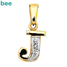 9k Solid Yellow Gold Diamond Letter Initial J Pendant 62050/j