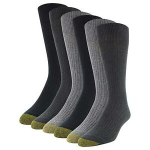 Gold Toe Men's Stanton Crew Socks, 6 Pairs,, Charcoal/Grey/Black, Size 6.0 1SxW