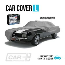 Car Cover Size L Resist Waterproof Protection All Weather Air Ventilation System