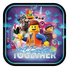 8 x Lego Movie Party Paper Plates 23cm Boys Lego Party Tableware Supplies