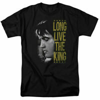Elvis Presley Long Live The King T Shirt Licensed Rock N Roll Music Tee Black