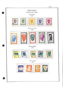 [OP7774] Ivory Coast lot of stamps on 12 pages