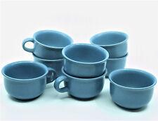 8 Dansk Mesa Sky Blue Coffee Tea Cups Japan