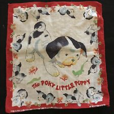 Vintage The Poky Little Puppy Little Golden Book Children's Handkerchief