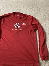 south catolina usc baseball team issued under armour fit shirt Sec