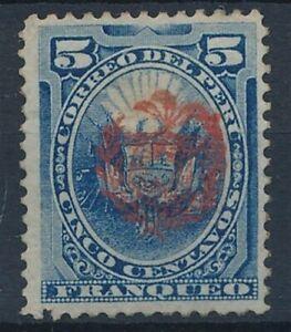 [58376] Peru 1882 Very good Mint no gum Very Fine overprinted stamp