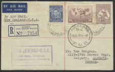 1940 Australia to Canada, Fam 19 First Flight New Zealand to Usa, Enclosure