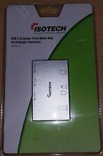 Isotech HU301113 USB 2.0 Combo 3 port metal hub card reader MS/MS Pro/M2/MSD/MMC