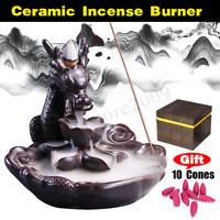 Glaze Dragon Waterfall Backflow Smoke Sticks Holder 10 Cones Incense Burner  ❤