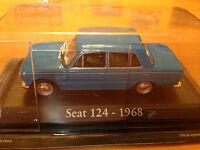 "DIE CAST ""SEAT 124 - 1968"" SCALA 1/43 RBA AUTO INDIMENTICABILI"