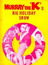 FOUR TOPS / MARVIN GAYE 1965 MURRAY THE K'S BIG HOLIDAY SHOW PROGRAM / EX 2 NMT