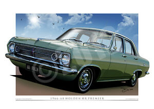 Holden HR Premier Print - Classic HR Holden Digital Drawing ( 11 Colours )