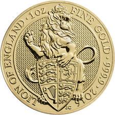 ON SALE! 2016 1 oz British Gold Queen's Beast Lion Coin (BU)