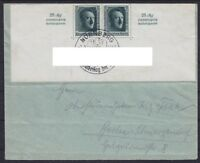 DR Block 11 halber Block MeF auf Brief mit SST Nürnberg 07.09.1937