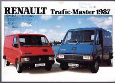 Renault Trafic & Master 1986-87 UK Market Foldout Sales Brochure