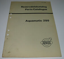 Reservdelskatalog Parts Catalogue Volvo Penta Aquamatic 280 Stand 1973!