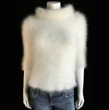 """Fuzzy 70% Angora Vintage MOTH Off-White Pullover Sweater 30""""-Bust"""