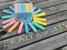 BUCKET of 20 CHALK JUMBO Multi Colours Blackboard Pavement Kids Art Craft Fun UK