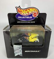 Hot Wheels Mercohaulic Limited Edition Mattel Car Black W/ Flames 1998 Vintage