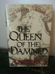 1988 The Queen Of The Damned Signed Anne Rice First Edition HC Book