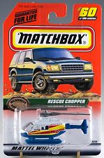 Matchbox MB 60 Rescue Chopper Helicopter White and Blue Mint On Card 1999