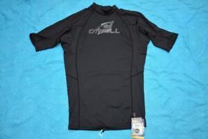 O'NEILL SKINS SS CREW RASH VEST - BLACK Size XL GR8 Rashie NEW-rrp $49.95
