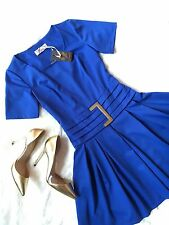 NWT Women Sexy Fashion One&Only Blue Party Short Sleeve Flare Tea Stretch Dress