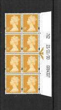 Machin - 8p - date block of 8 - 23/01/00 762 - unmounted mint