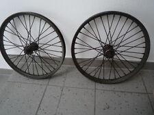 2 Alte Räder für Oldtimer Fahrrad Anhänger Rollwagen DDR Klaufix 20 Zoll