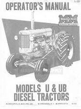 Minneapolis Moline U Amp Ub Diesel Operator Maint Manual
