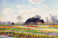 Claude Monet Tulip Fields At Sassenheim Near Leiden French Art Poster - 18x12