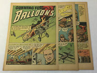 1947 four page cartoon story ~ WWI Aviator LIEUTENANT FRANK LUKE