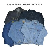 VINTAGE UNBRANDED DENIM JACKET (GRADE A) VARIOUS COLOURS XXS XS S M L XL XXL