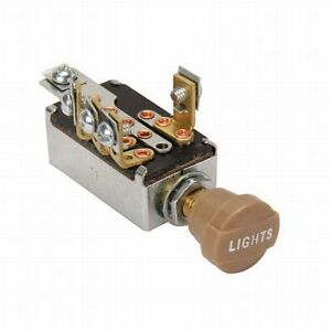 Headlight Dimmer Switch 4 Position with Tan Knob hot rod rat 32 34 29 Chevy