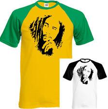 Bob Marley Mens T-Shirt Reggae Jamaica Wailers Jamaican Flag