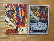 2009 RITTENHOUSE SPIDER-MAN ARCHIVES MOLTEN MAN CARD SIGNED MIKE MCKONE,WITH POA