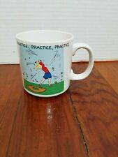 Russ Golf Practice Coffee Cup Mug Ladies Sports Club Swing Turf Tee