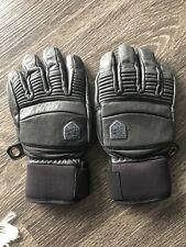Hestra Fall Line Leather Gloves Grey Size 8 Ski Winter