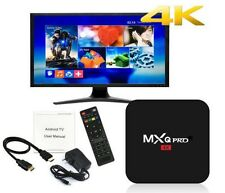 MXQ Pro 4K 3D 64Bit Android 7.1 Quad Core Smart TV Box 1080P HDMI WIFI KODI 17.6