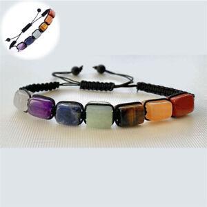 Crystal Bracelet  Healing Adjustable Genuine Stones 7 Chakra Balancing Energy