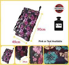 Travel Luggage Wheeled Trolley Holdall Suitcase Case Duffle Bag 90Cm XXL Printed